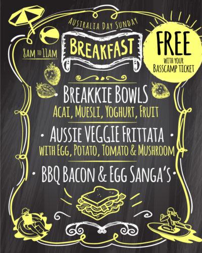 Australia Day Breakfast at Bass Camp